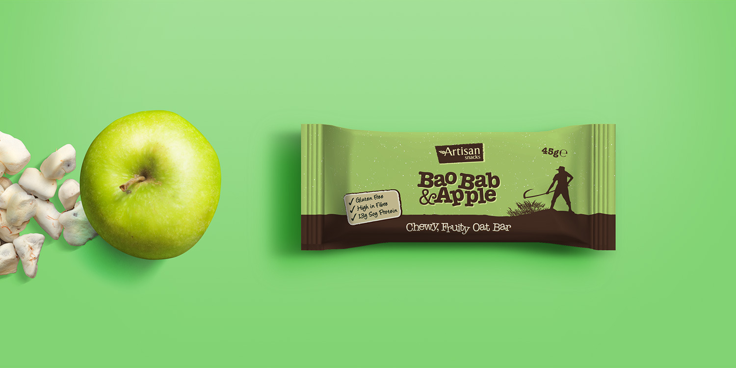 Apple Oat Bar Packaging Design