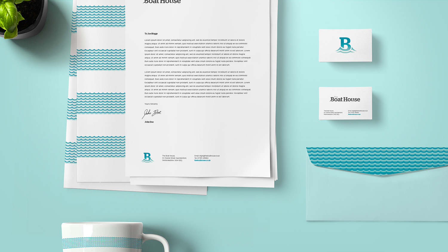 Letterhead, envelope design and business cards
