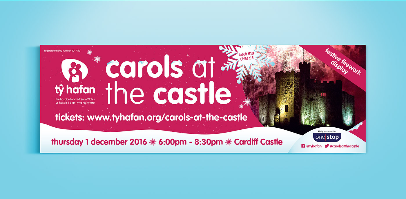 Ty Hafan Carols At The Castle Banner